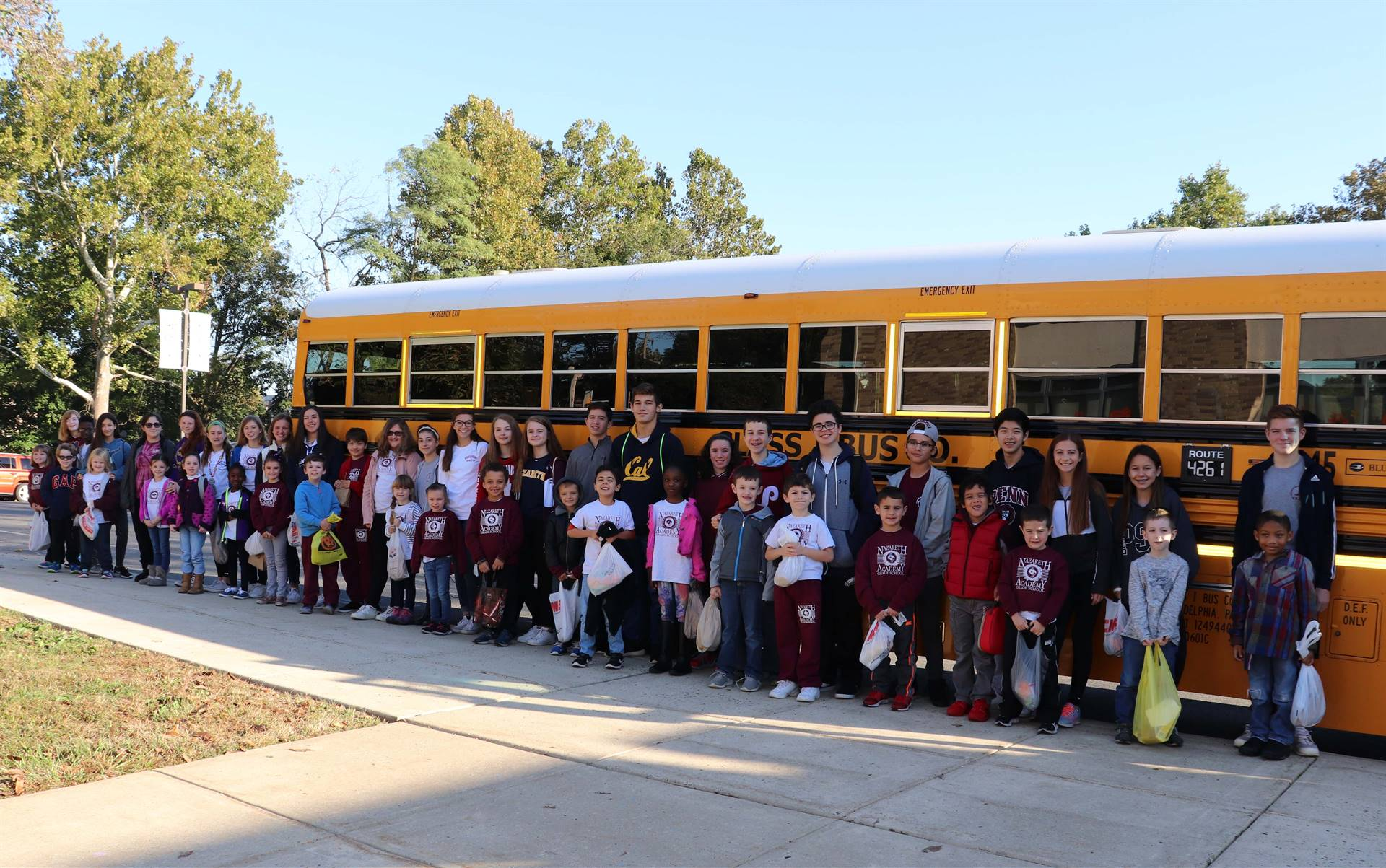 Students leaving for Field Trip