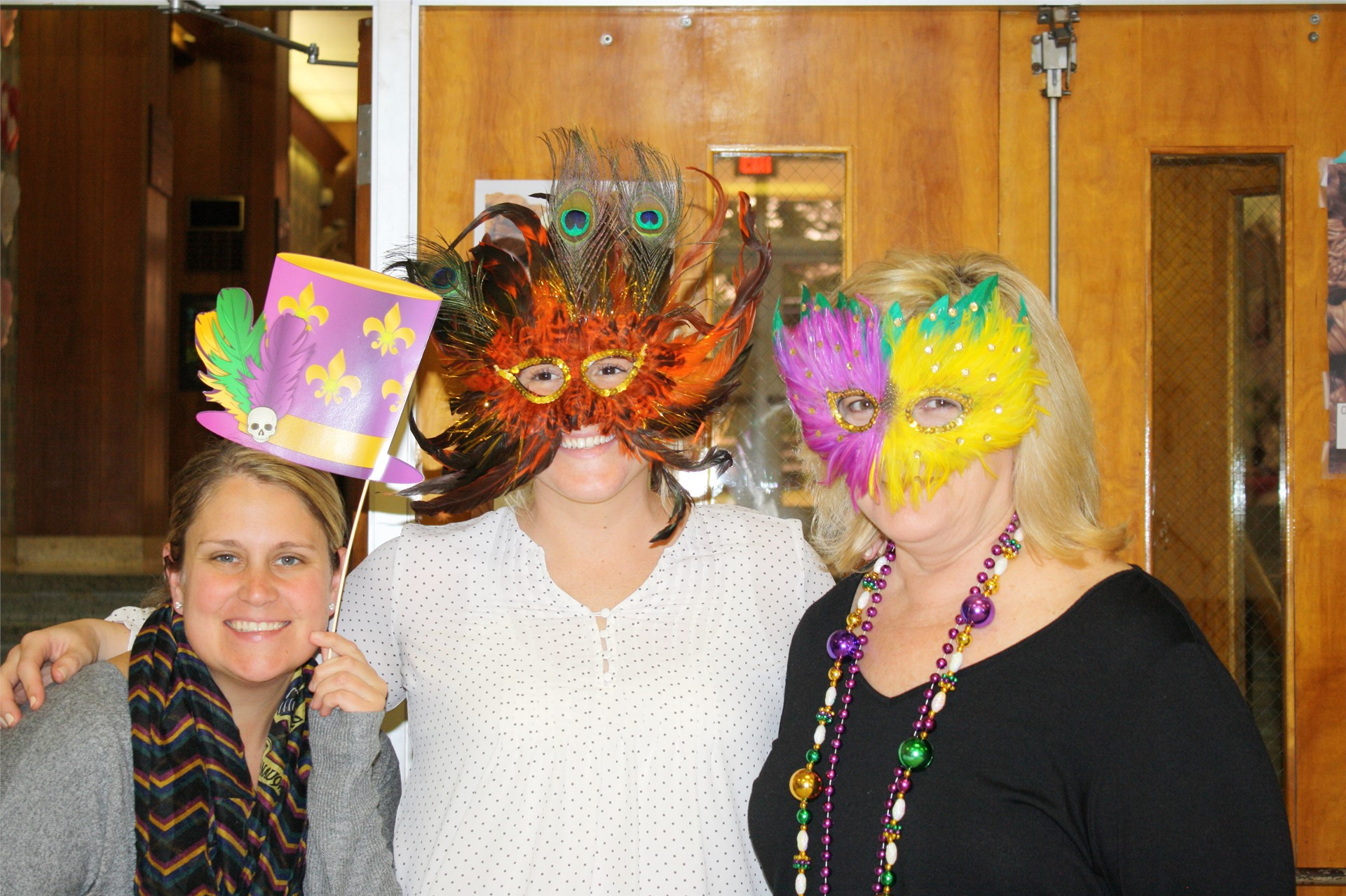 Mardi Gras fun with faculty and staff