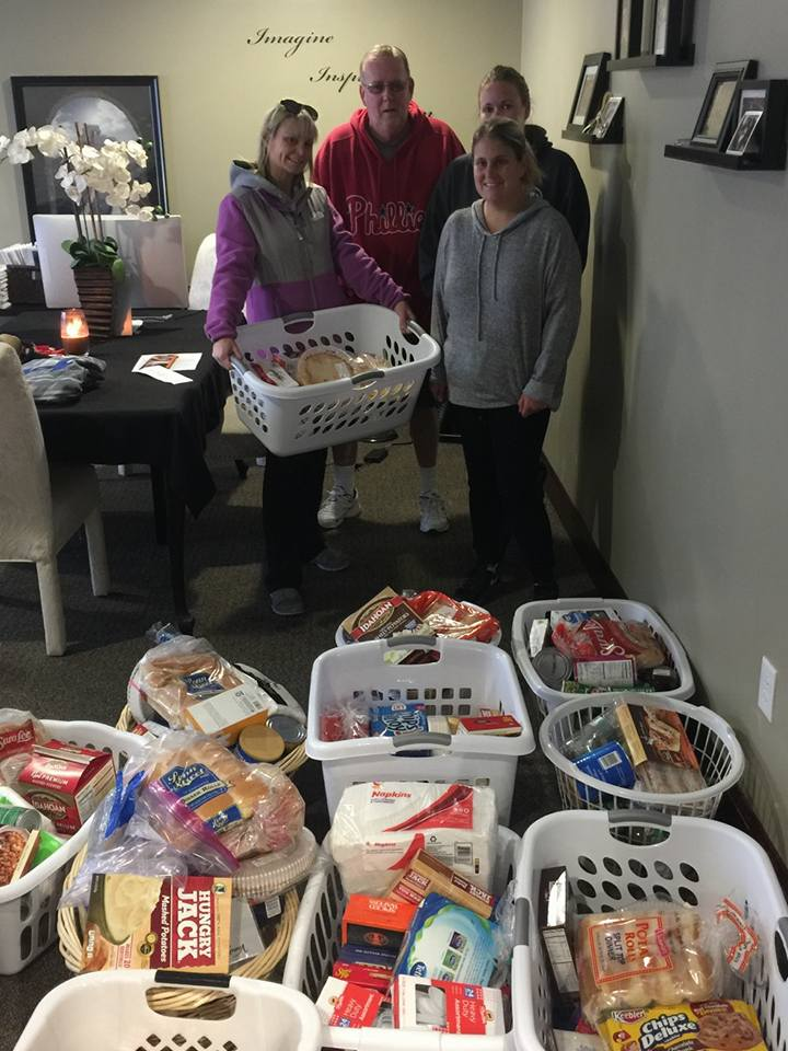 Thanksgiving Baskets for Helping Hands in the Northeast