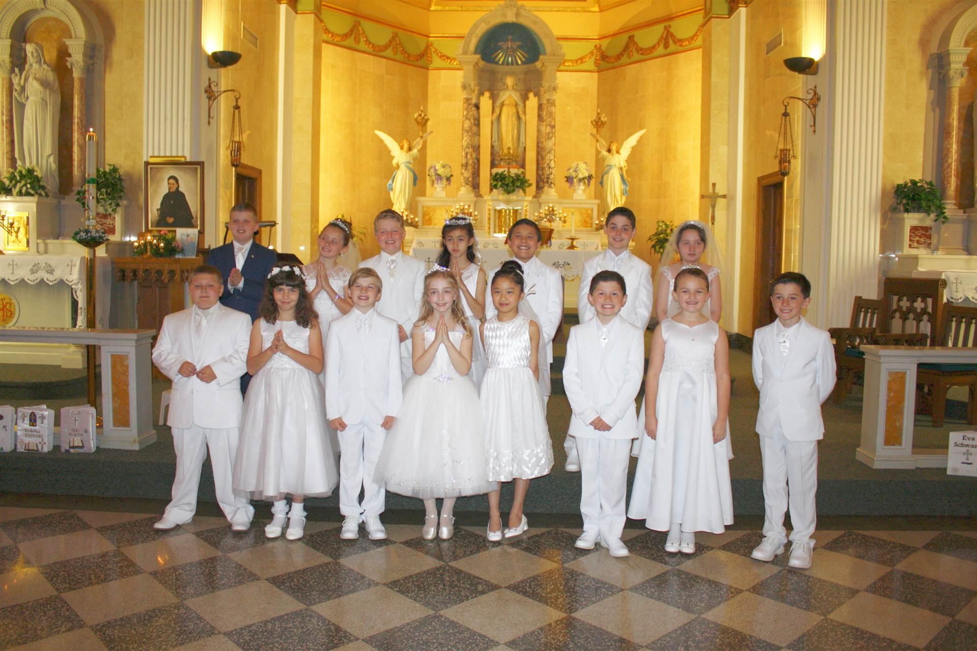 First Holy Communion Third Grade Class