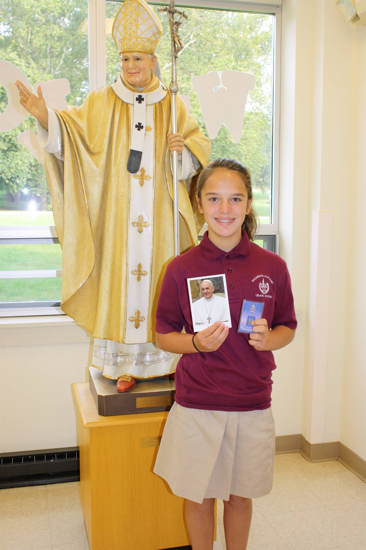 Student received response from Pope Francis