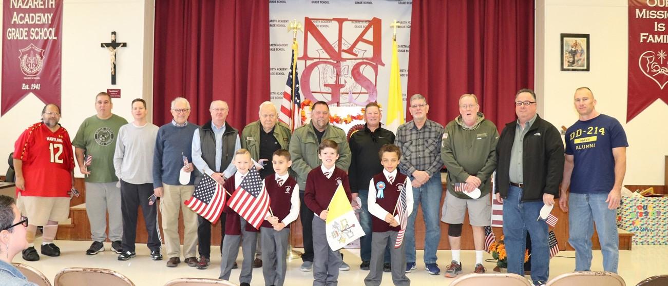 Veterans at prayer Service