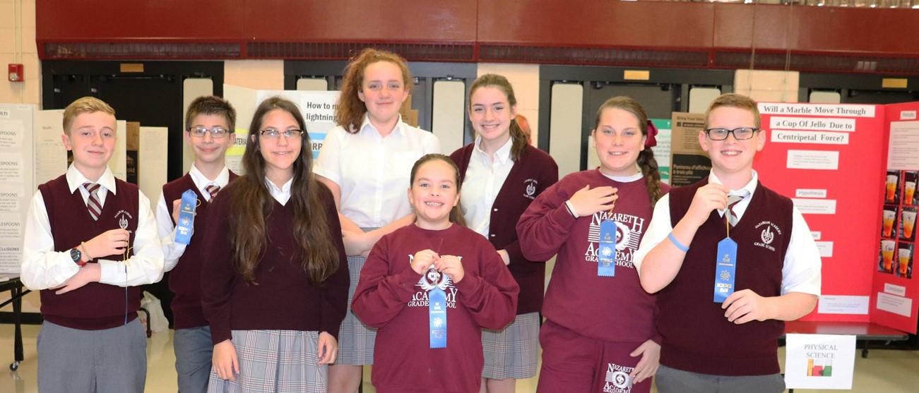 1st place science fair winners