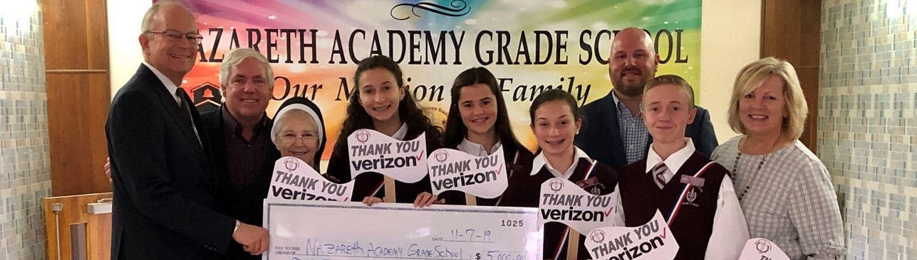 Verizon check presentation