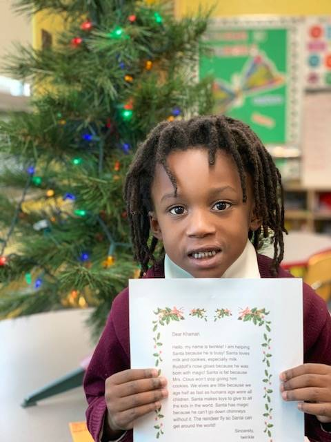 Santa's Elves respond to our First Grader's letters.