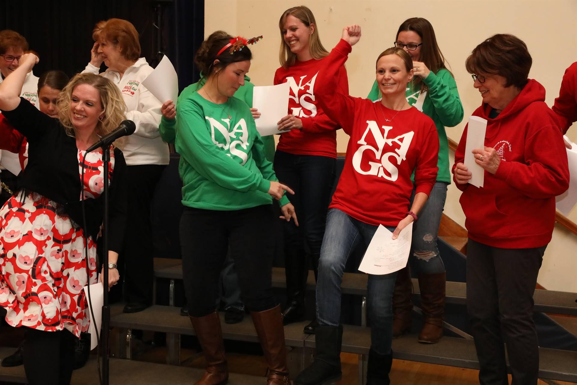 Teachers at Christmas Concert