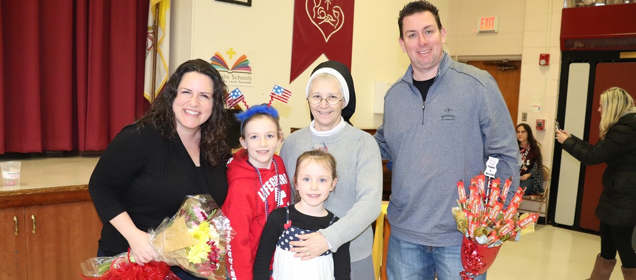 Family donation received by school