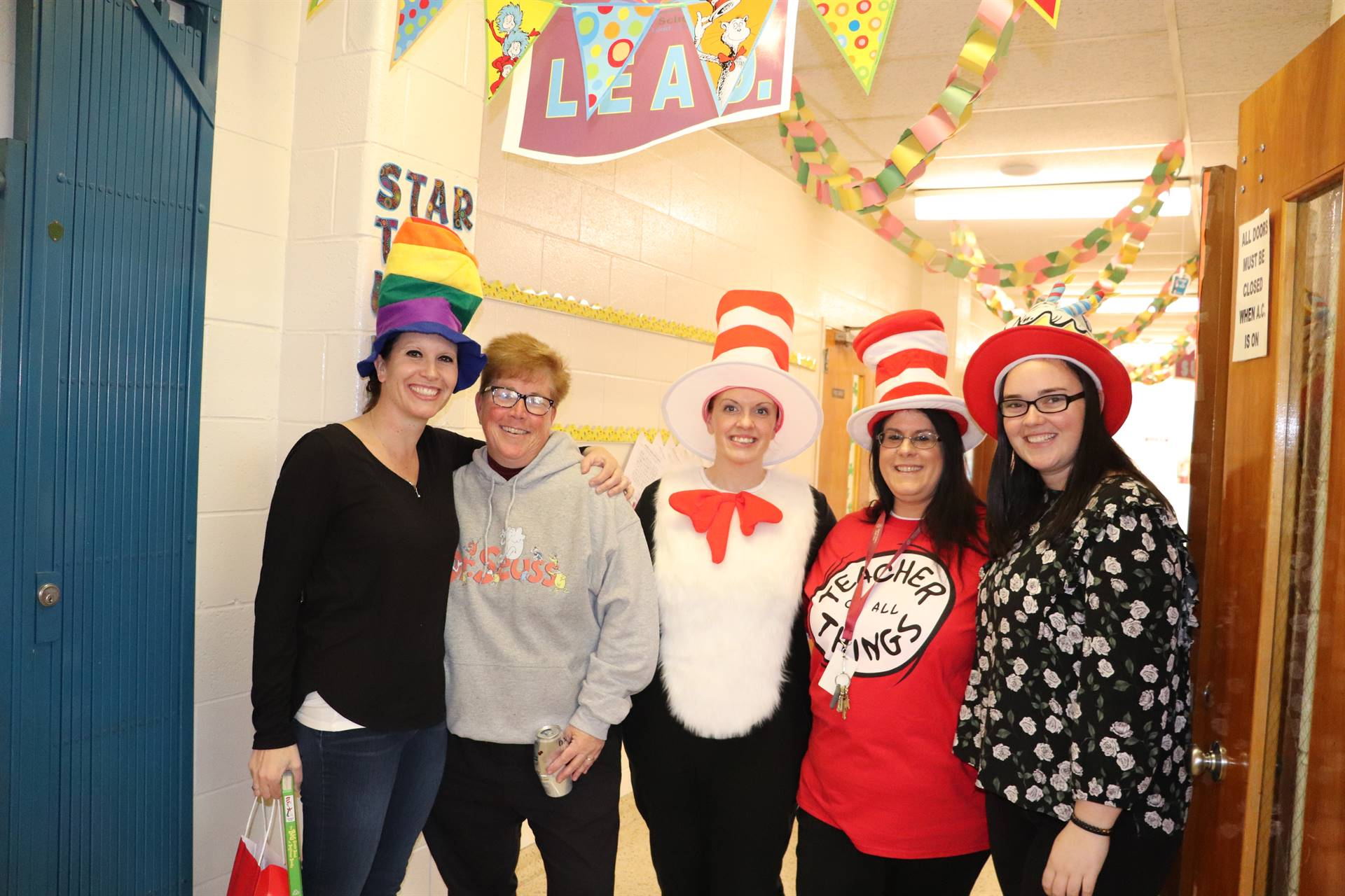 Dr. Seuss Day with faculty