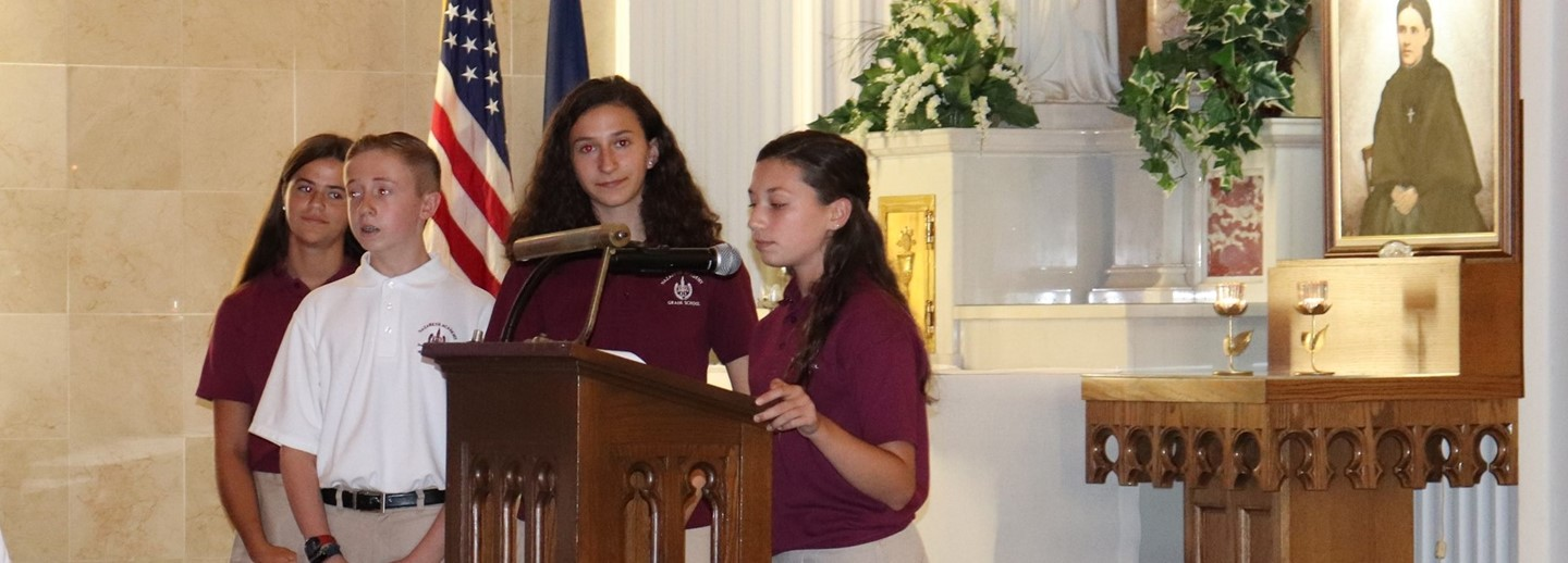 Student Council induction at Liturgy